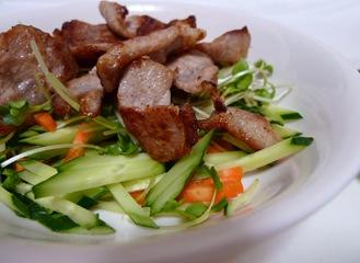 梅しょうゆのさっぱり豚肉