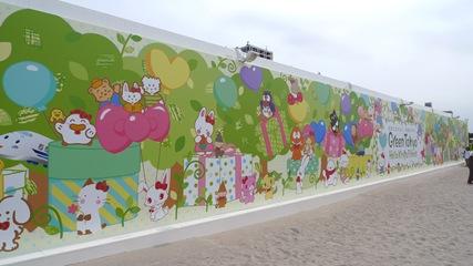 サンリオビーチサイドマーケット壁面1